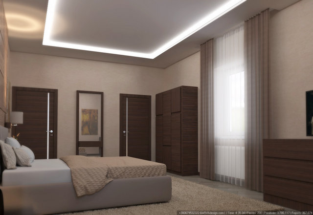 Дизайн інтер'єру готелю. Гостьовий номер другого поверху