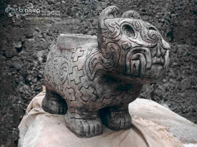 Майянский кот-кашпо