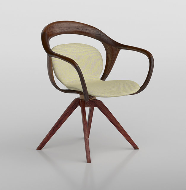 3D model Norah Small Armchair by Giorgetti