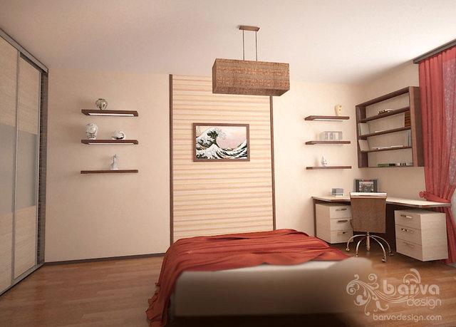 Дизайн спальни в 2-х комнатной квартире по ул.О.Пчилки