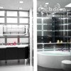 Дизайн мужского санузла. Квартира в стиле эклектичного модерна на пр.Бажана