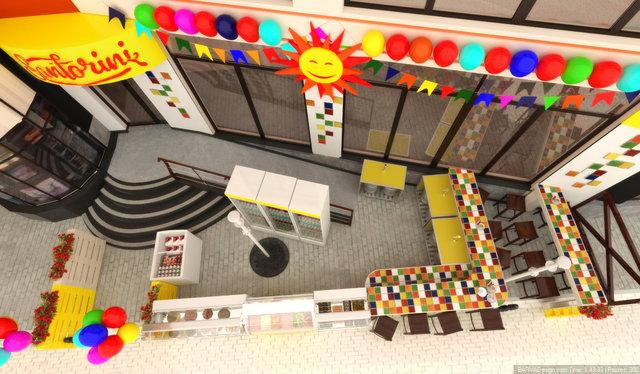 Дизайн летней площадки кафе