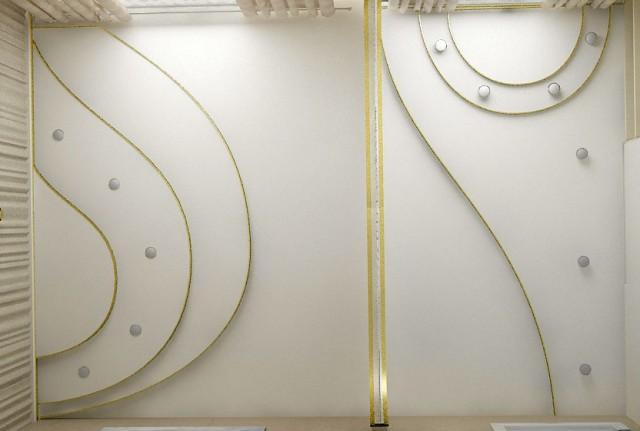 Дизайн потолка спальни в квартире на пр.Бажана