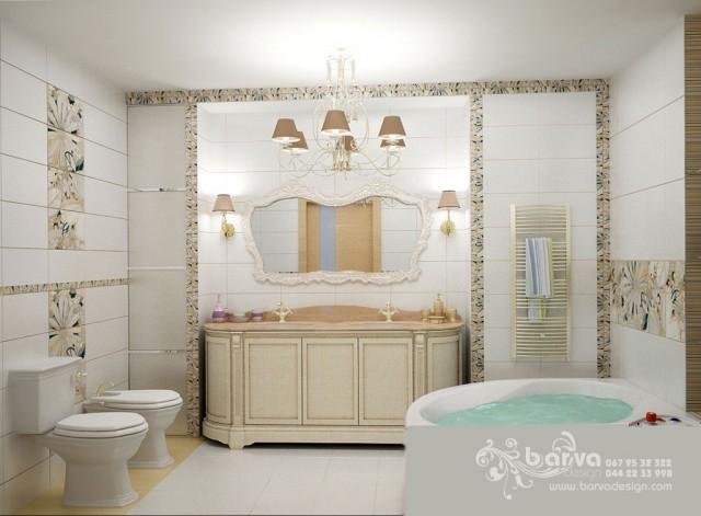 Дизайн женского санузла. Квартира в стиле эклектичного модерна на пр.Бажана