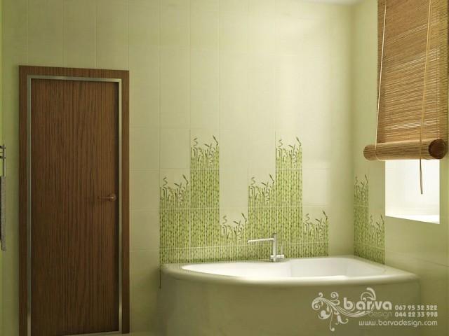 Дизайн санузла в квартире по пр.Победы. Эко-стиль