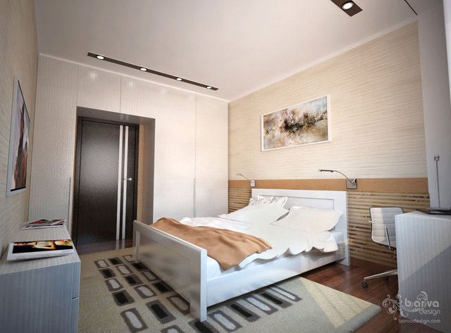 Интерьер для молодой семьи. Дизайн спальни
