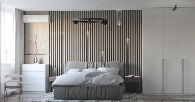 """Дизайн квартири в ЖК """"Галактика"""". Спальня"""