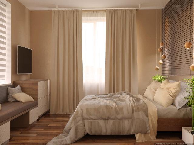 Дизайн спальни в квартире на Дарницком