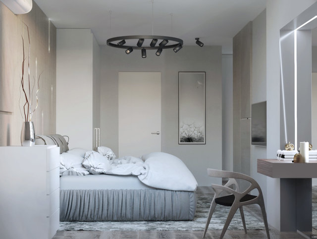 "Квартира в ЖК ""Галактика"". Дизайн спальні"