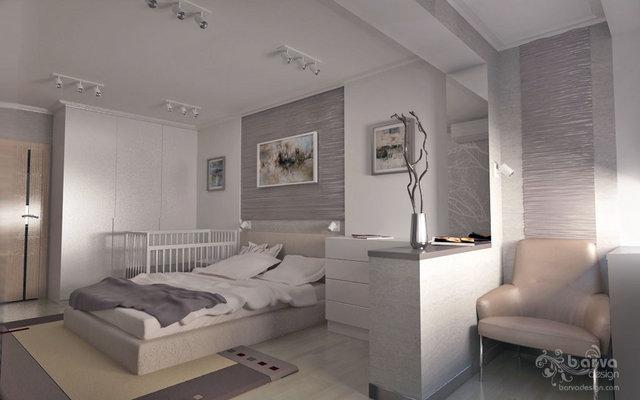 3-к квартира на Оболони. Дизайн спальни