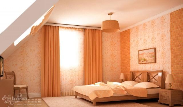 Будинок в стилі кантрі с. Горбовичі. Дизайн гостьової спальні