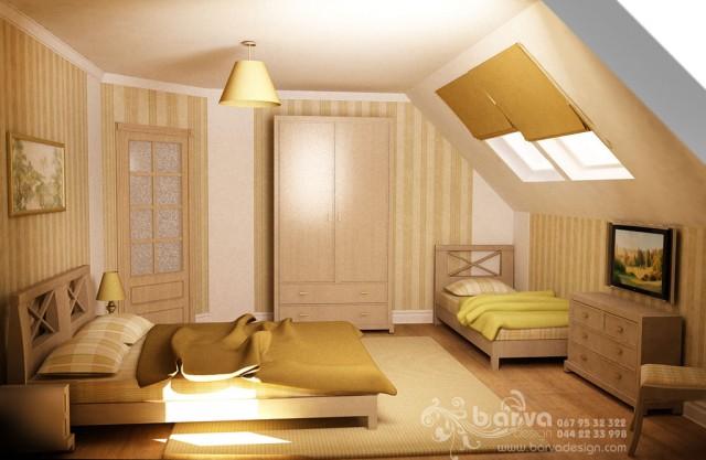 Вариант дизайна спальни в стиле кантри. с.Горбовичи