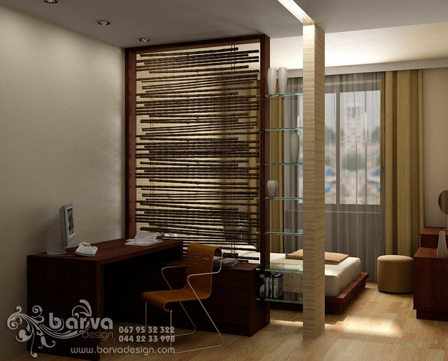 Сталінка. Дизайн домашнього офісу в квартирі по вул.П.Мирного