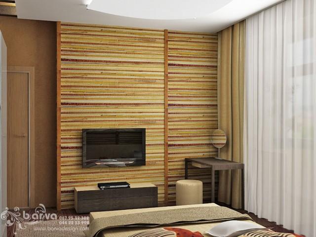 Вариант дизайна спальни в квартире по пр.Победы. Эко-стиль