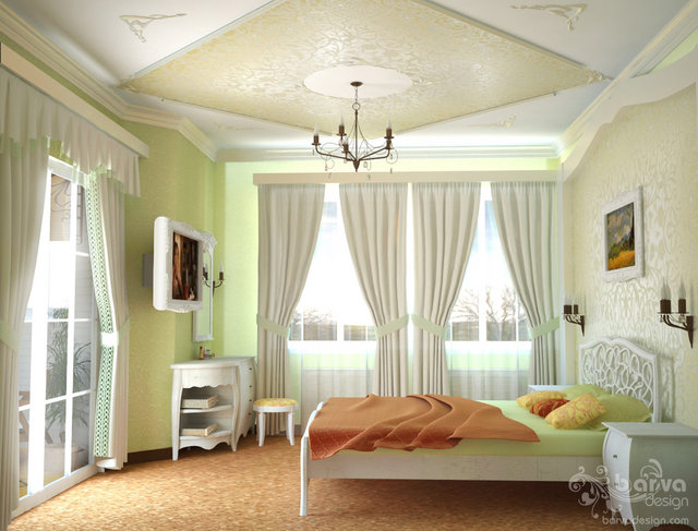 Дизайн спальни в стиле прованс 3 этаж