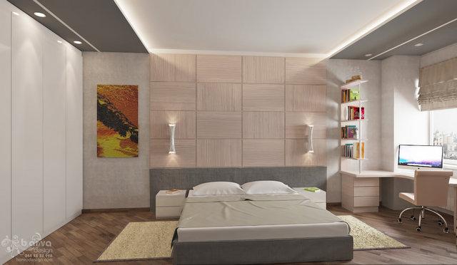 Дизайн квартири на вул.Павлівській. Дизайн спальні