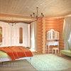 Спальня в деревянном доме в стиле прованс. с. Хотив