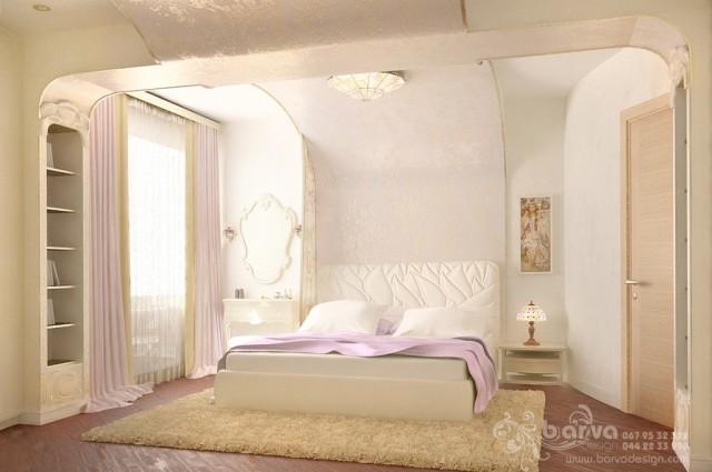 Дизайн 4-квартири в Ярославському провулку. Дизайн спальні