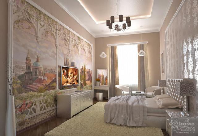 2-ярусна квартира на Саксаганського. Дизайн спальні