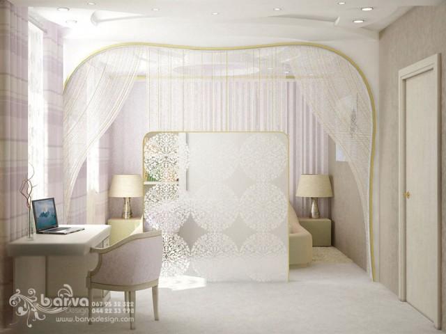 Дизайн спальни. Квартира в стиле эклектичного модерна на пр.Бажана