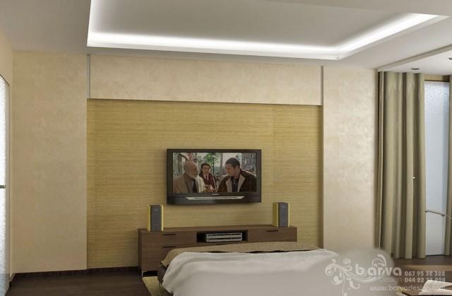 Дизайн спальни в квартире на бул.Чоколовском. Мужской интерьер