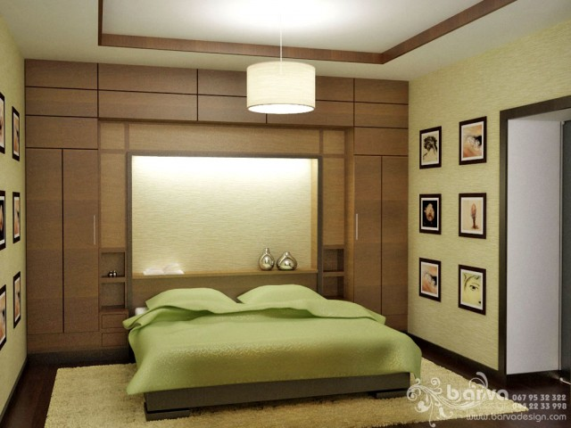 Квартира на вул.Ломоносова. Дизайн спальні. Зелений варіант