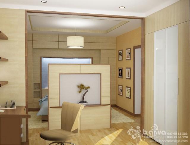 Квартира на вул.Ломоносова. Дизайн спальні. Блакитний варіант