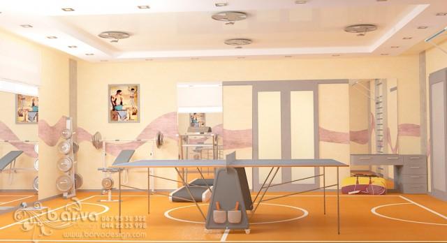 Дизайн спортзала в доме с.Коцюбинское