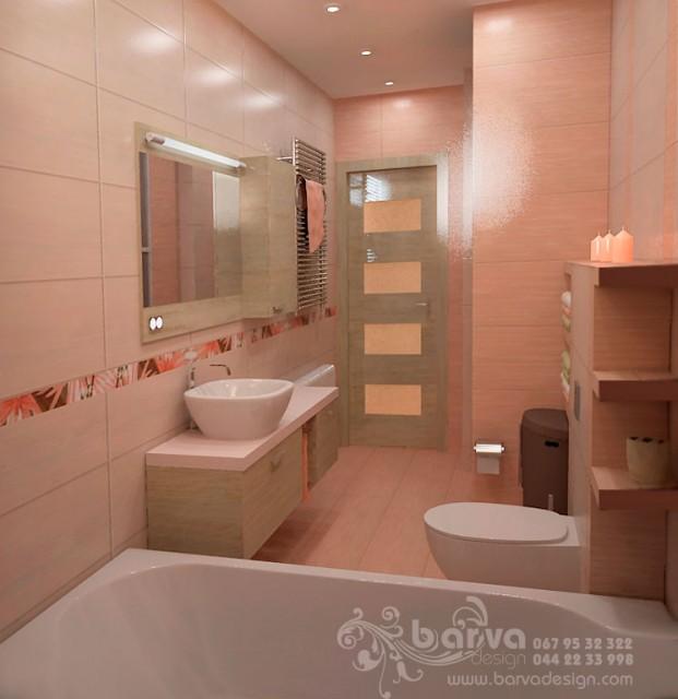 Дизайн санузла в 2-х комнатной квартире по ул.О.Пчилки