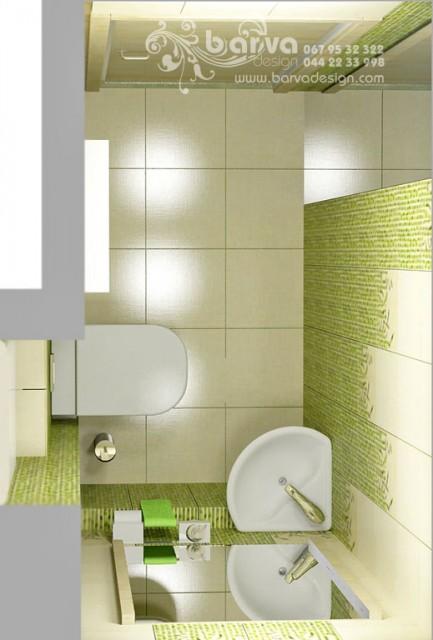 """Дизайн туалета в квартире по ул.Лаврухина. """"Полосатый"""" интерьер"""