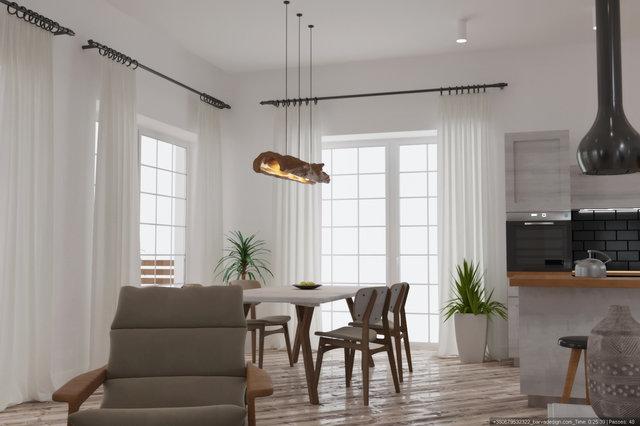 Дизайн вітальні в скандинавському стилі