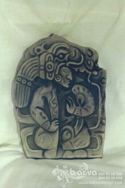 Воин майя. Рельеф