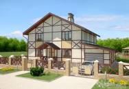 Дизайн фасада дома фахверковый дом
