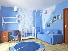 Дизайн интерьера детской  комнаты, интерьерная наклейка, виниловая наклейка