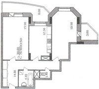 План обмера квартиры до перепланировки
